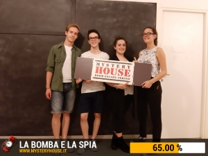 escape room mystery house torino The Bomb and the Spy